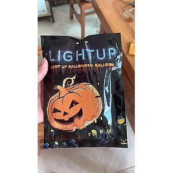 Mini Cartoon Halloween Balloons, Pumpkin With Lights, Fast Inflatable Toy,