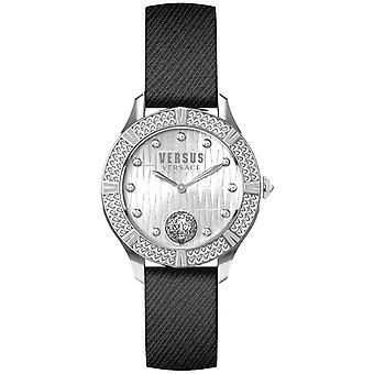 Versus by Versace Women's Watch Wristwatch Canton Rouad VSP261119 Leather