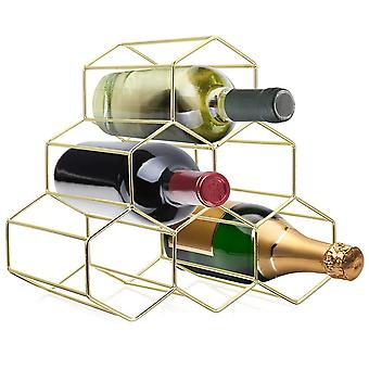 Nordic Style Metal Wine Rack 6 Bottle Wine Holder  Bottle Rack