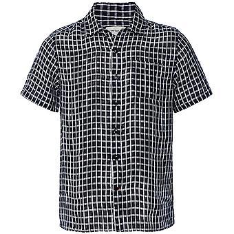 Oliver Spencer Linen Check Hawaiian Shirt