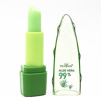 Naturlig Aloe Vera Fuktkräm Läppstift, Temperatur förändrad färg Lipbalm