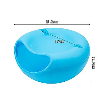 Fruit Plate Bowl With Mobile Phone Holder Modern Living Room Creative Shape Lazy Snack Bowl Double Layers Snack Storage Box
