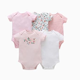5個/パック新生児100%コットンジャンプスーツ