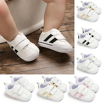 Baby Shoes Faux Leather Infant Toddler Pre Walker Sneakers Crib Shoes