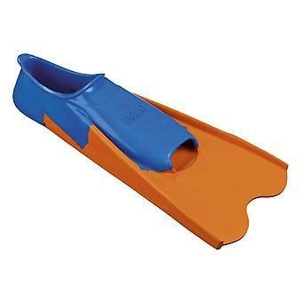 BECO Rubber Short Fins - Blue and Orange
