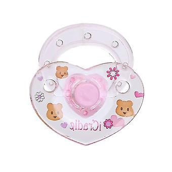 مصاصة دمية + مغناطيس القلب للعبة للطفل حديث الولادة