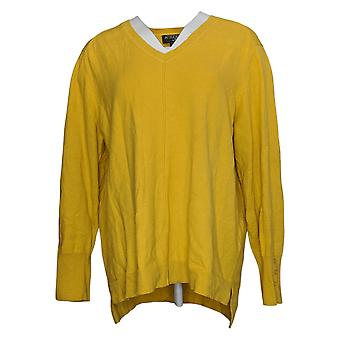 Attitudes by Renee Women's Sweater Long Sleeve Pullover Mustard A373241
