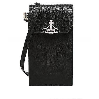 Vivienne Westwood Accessories Jordan Leather Crossbody Phone Bag