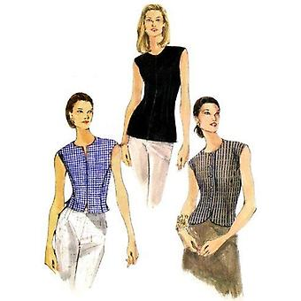Vogue Sewing Pattern 9878 se pierde la blusa forrada Tamaño 14-18