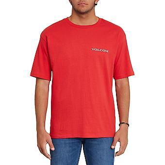 Volcom Hombres's Camiseta ~ Volcom Stone rojo