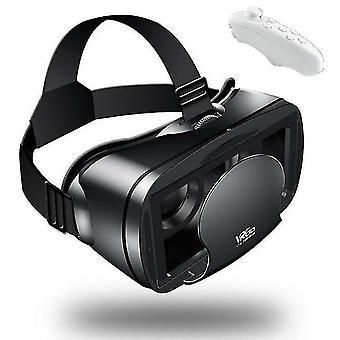Etvr films 3d jeux lunettes vr google carton casque de réalité virtuelle immersive avec contrôleur ajustement 5-7 pouces téléphone intelligent