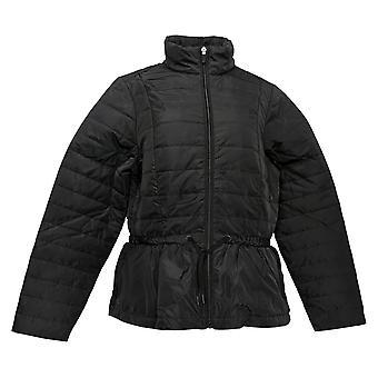 zuda Women's Jacket Quilted Peplum Puffer Black A384435