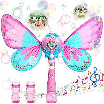 Fairy Magic Bubble Wand Automatic Bubble Machine Light Music Electric Bubble Blowing Girl Toy