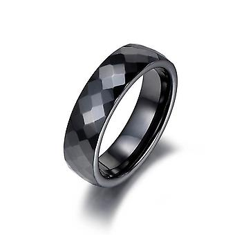 Trendy Black & White Cutting Ceramics Wedding/engagement Rings