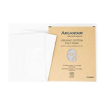 Organic Cotton Facial Mask with Hyaluronic Acid 2 units