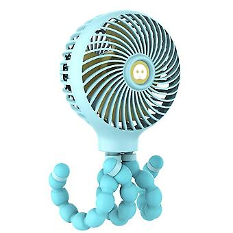Octopus Usb Charging Handheld Baby Stroller Bed Fan