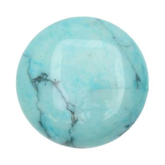 Chinese Turquoise Geverfde Howlite Edelsteen Rond Flat-Back Cabochon 25mm (1)