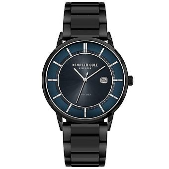 Kenneth Cole Kc50784002a Modern Classic Blue & Black Stainless Steel Mens Watch