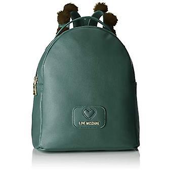 Love Moschino Pu+polyester Bag - Women's Backpack Bags, Green, 12x30x25 cm (B x H T)