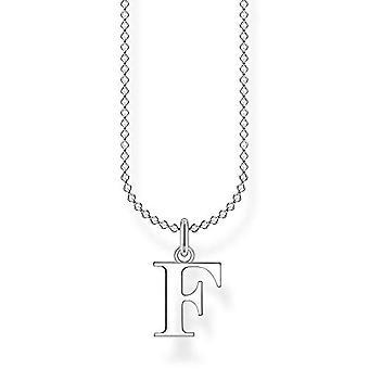 Thomas Sabo, women's necklace with letter F in sterling silver 925, length 38-45 cm
