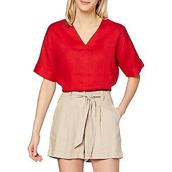 find. Women's Long V-Neckline T-Shirt, Red, 40, Label: XS