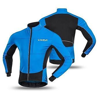 Zimní termální polární fleece Pánská větruodolná cyklistická bunda