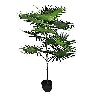 Künstliche Fächerpalme mit 14 Blättern, 140cm