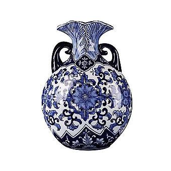 الفاخرة الرئيسية ديكور الصين الحديثة المزهريات السيراميك الأزرق والأبيض للبيع