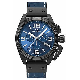 TW Steel Canteen Black PVD Plated Blue Dial TW1016 Watch