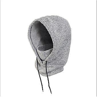 Šedá zimná teplá jazda pletené vlnené klobúk x4466
