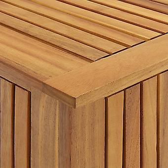 vidaXL caja de almacenamiento de jardín 60x50x106 cm acacia de madera maciza