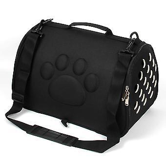 L 52 *32 * 32cm preto portátil saco de viagem de estimação, bolsa respirável de gato e cão az22127