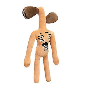 Brown siren head doll double-headed strange whistle man black cat plush toy dt5504