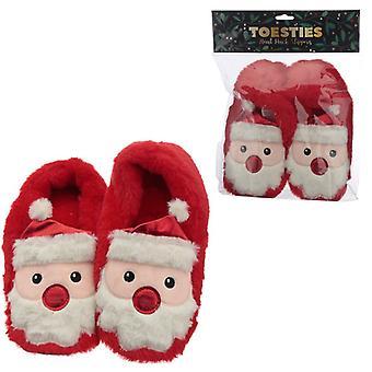 Peluş Noel Baba Isı Paketi Terlik (Unisex Tek Beden)