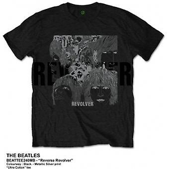 Die Beatles Reverse Revolver Herren Schwarz Tshirt: groß