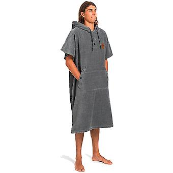 Slowtide The Digs Changing Poncho - L/XL Hooded Towel in Heather Grey