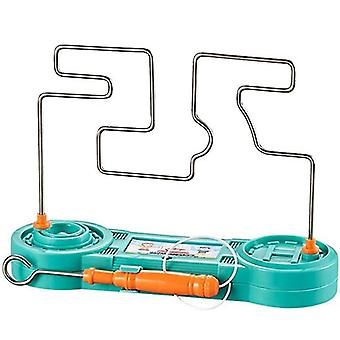 Electric Shock Toy Touch Maze Wire Game For Kids Collision(Eucalyptus Green)