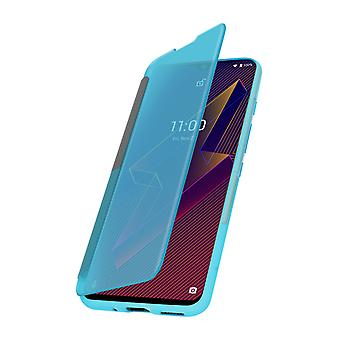 Case Wiko Power U10 and U20 Translucent Window and Touch Wiko Easy Folio Green