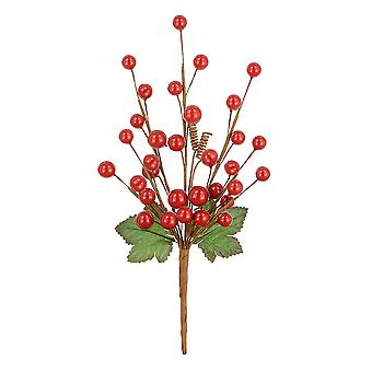 23cm Classic Mixed Berry Pick - Red