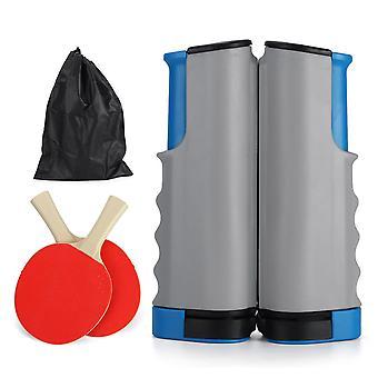 Set di reti da ping pong retrattili da 1,7 M per qualsiasi tavolo 2 paddle da ping pong home indoor training tavolo da gioco portatile da tavolo da ping pong