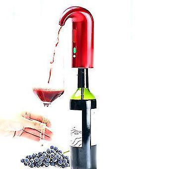 Automatic Wine Oxidizer Dispenser,portable One-touch Wine Dispenser Pump,usb(Red)