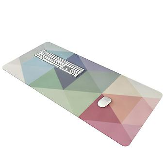 Swotgdoby Multicolor Geometric Triangle Stitching Non-slip & Single-sided Mouse Pad