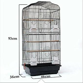 """(Black) 37"""" Rooftop Metal Large Bird Parrot Cage For Canary Budgie Cockatiel In 2 Colour"""