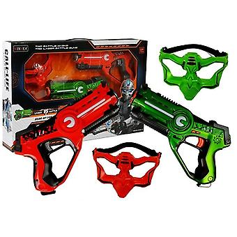 Speelgoed Laserpistolen - Set - 2 Pistolen 30cm - met Maskers