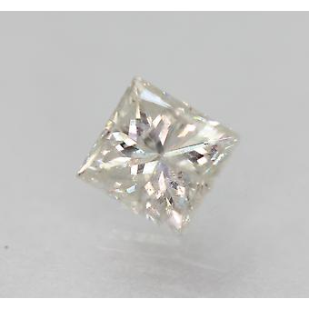 معتمد 0.52 قيراط F SI2 الأميرة تعزيز الماس فضفاضة الطبيعية 4.37x4.09mm