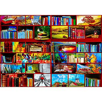 Bluebird The Library The Travel Section Jigsaw Puzzle (1000 Pieces)