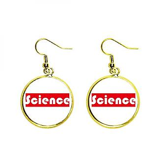 Course And Major Science Red Ear Dangle Golden Drop Earring Jewelry Woman