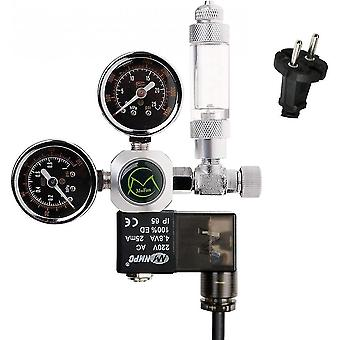 Aquarium Co2 Regulator, Aquarium Pressure Reducer, Stable Output Pressure Of 4-6 Bar, Including