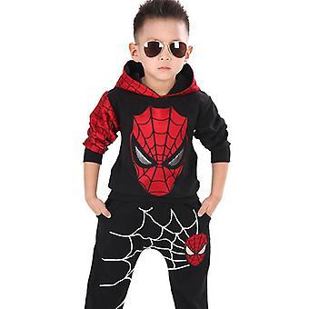 बच्चे लड़के स्पाइडरमैन ट्रैकसूट हूडि Sweatshirt पैंट सेट संगठन कपड़े