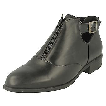 Spot On Ladies Buckle Ankle Boot